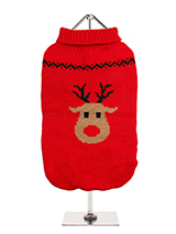 Rudolph's Red Sweater - Our Rudolph's Red Sweater comes with a gorgeous Rudolph face and of course his trademark rosy nose. Finished with an on trend high neck and elasticated sleeves to ensure a great fit from front to back.