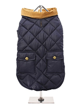 Navy Blue Quilted Town & Country Coat - Urban Pup's Quilted Town & Country Coat has been crafted for lightweight warmth and unparalleled heritage style. It just oozes class and is perfect for either the city or country. The beautiful soft corduroy collar has an enamel Urban Pup label pin as standard for that on-trend, quality feel. It has...