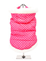 Thermo Pink Hearts Quilted Parka