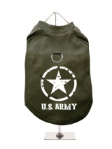 ''U.S. Army'' Harness-Lined Dog T-Shirt