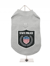 ''State Police'' Harness-Lined Dog T-Shirt